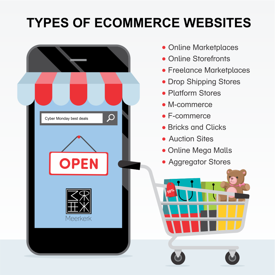 types of ecommerce websites